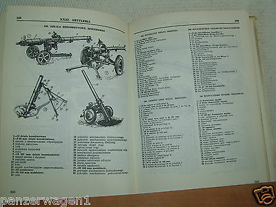 Ilustriertes technisches Lexikon des Militärs in fünf Sprachen PL/RU/GB/D/F RAR.