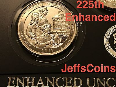 2017 S Park Quarters 225th Enhanced ATB 5 Coins via U.S.Mint Set Box COA Incl. 2