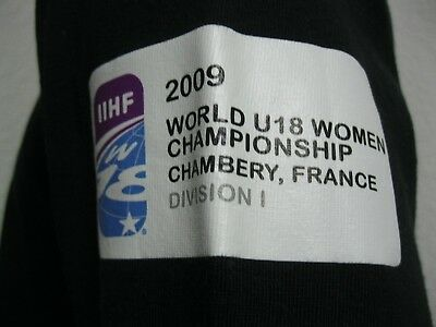 Ancien MAILLOT T-SHIRT JAPAN ICE HOCKEY FEDERATION TEAM 2009 WOMEN U18 sur Glace 7