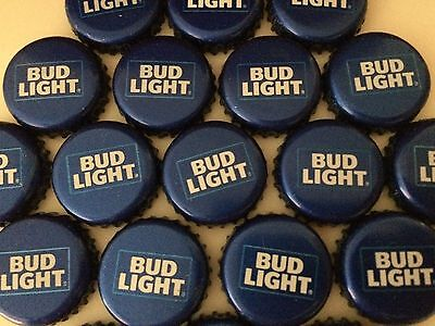100 Lot New Current RETRO BUD LIGHT Beer Bottle Caps Crowns~NO DENTS! Clean! 3