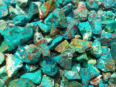 1000 Carat Lots of  Chrysocolla & Turquoise Rough - Plus a FREE Faceted Gemstone 2