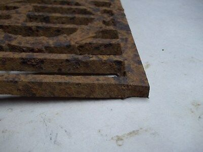 Broken part of antique furnace or stove vent or grate ? with design 5
