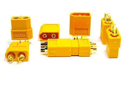10 Stück (5 Paar) XT60 Nylon ESC Lipo Akku Stecker Buchse + Schrumpfschlauch 60A 5