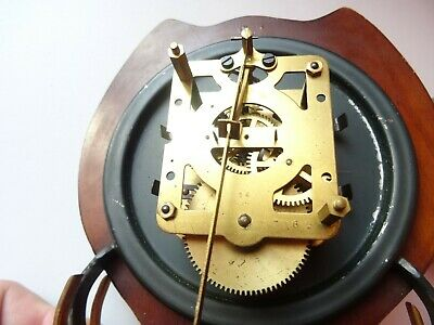 OLD WINTAGE  RETRO CLOCK Mid Century Orfac Pendulum Metal Table Mantle Clock 12