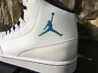 more photos cbbdb 403bc ... Nike Air Jordan Executive Men s Shoes White Blue Lagoon 820240-116  Hornets NIB 2