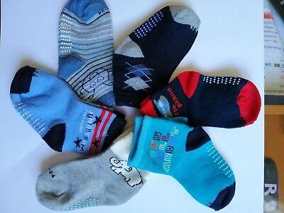 6 paia calzini antiscivolo per bambino12/18 mesi colori misti Tongyun 90%cotone 3