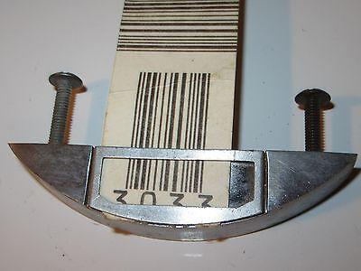 1 Vintage Cabinet Hardware Pull Handles - Aluminum w/Label Window - Mid-Century 5