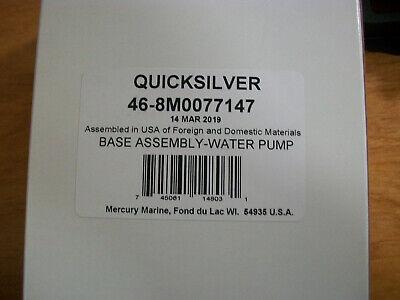 MERCRUISER OEM WATER PUMP BASE ASSY 46-8M0077147 SS FROM 46-42579A3 MERCURY