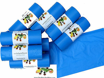"""Canine Poop Bags 2000 Thick Biodegradable Doggie Pet Waste Collection 8X14"""" #13 6"""