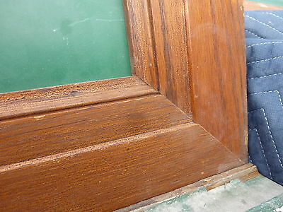 """early 20th century schoolhouse SLATE chalkboard FRAMED OAK molding 49.5"""" x 38"""" 4"""