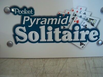 Pocket Pyramid Solitaire Casino Poker Room Man Cave Foam Board Display Sign 13X7