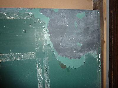 "antique ORIGINAL circa 1920's schoolhouse SLATE chalkboard 62.5"" x 42"" UTICA, NY 5"