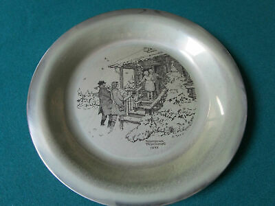"""Sterling 925 PLATES NORMAN ROCKWELL CHRISTMAS FRANKLIN MINT 8"""" -1971/75 - PICK 1 4"""