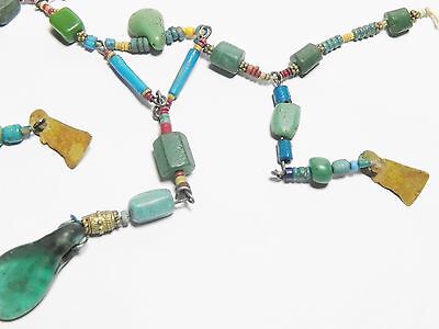 Zurqieh - Q61- Ancient Egypt. Strand Of Faience, Glass And Gold Amulets. 300 B.c 5