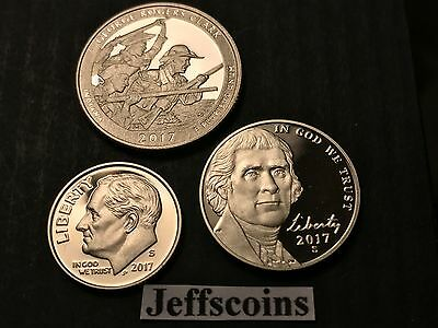 2018 S Dime Nickel Quarter Pictured Rocks 3x Clad Proof Coins New 5¢10¢ 25¢ Lot 6