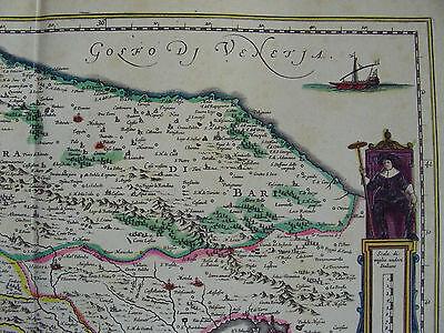 Cartina Puglia Molfetta.Mappa Terra Di Bari E Basilicata 1640 Puglia Trani Potenza Putignano Molfetta Eur 11 50 Picclick It