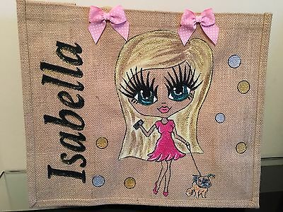 PERSONALISED LARGE HAND PAINTED JUTE BAG GIFT 16TH 21ST 30TH GIFT FOR ALL AGES