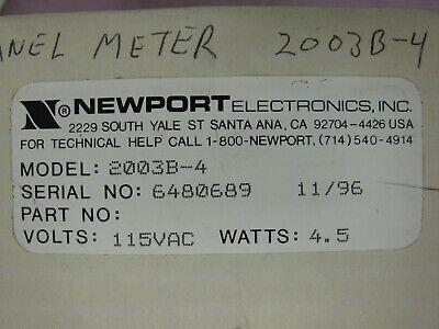 *NEW* Newport 2003B-4 D1 Digital Panel Voltmeter 9