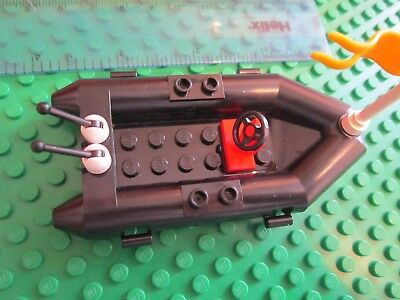 Rowing Boat Rigid Inflatable Craft ship with Flag Lego Dingy Raft GREY