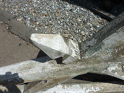 "LARGE single railroad station DEPOT CORBEL bracket brace 94 x 63 x 3.75"" ~ AS IS 8"