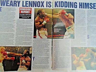 BOXING NEWS - 2nd oct 1998 - herbie, paul, lewis holyfield, naz free p&p to uk 10