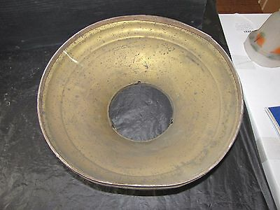 Rare Unusual Large Industrial Brass Ceiling Mount Light Early Arc - Gas ? 1504