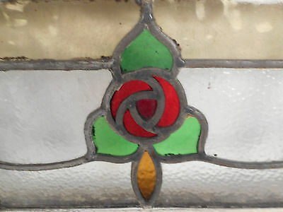 Vintage Stained Glass Window Panel (2920)NJ 6