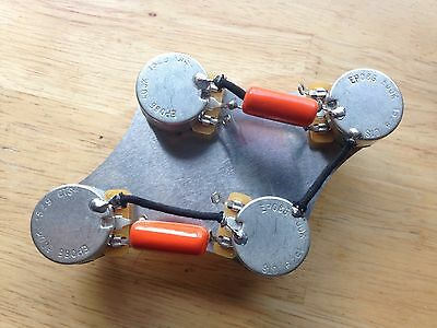 50'S WIRING HARNESS Gibson Epiphone Les Paul 500k CTS Pots ... on