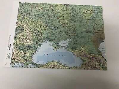 2007 Map Of Western Russian Federation, Iceland, Estonia Latvia Finland Poland 3