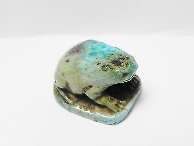 Zurqieh -Q197- Ancient Egypt , Beautiful Faience Frog. 1075 - 600 B.c 4