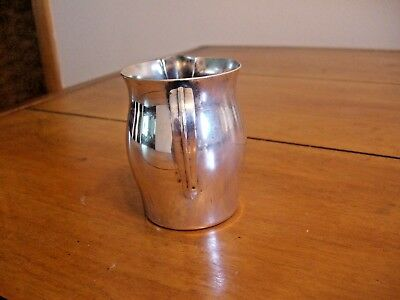 """VINTAGE PAUL REVERE Silver Plated Reproduction 3""""  CREAMER - Oneida 2"""