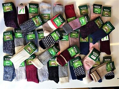 *4 PAIRS WOMEN LADIES WOOL HIGH QUALITY CHUNKY THERMAL BOOT SOCKS  Size 4-7 WTRQ