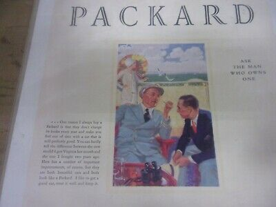 1929 Packard Eight 626 5 Passenger Sedan Magazine Ad 2