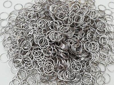 Flat Split Ring Keyring 20mm 25mm 30mm 35mm 2 10 25 50 100pcs 2
