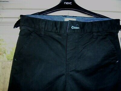 BOYS COTTON JEANS BY NEXT. BLACK. AGE 12 years. WAIST IS 28 inches. Adjustable. 2