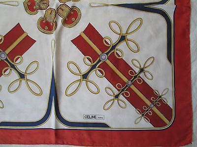 347cd7adbf1f SUPERBE FOULARD CELINE Paris 100% soie TBEG vintage scarf - EUR 85 ...