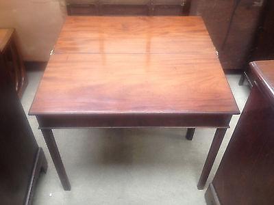 Georgian Mahogany Fold Over Tea Table Breakfast Dining Card Hall Desk Side 6