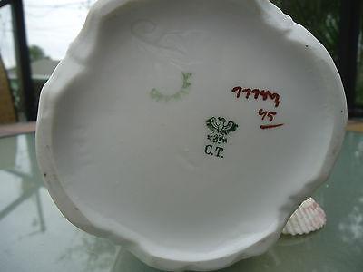 Vintage Porcelain German CT Floral Pitcher Signed & Numbered 7