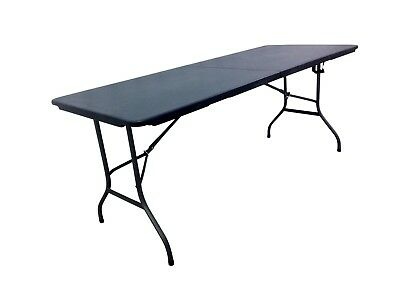 Heavy Duty Black 1.8M Folding Table 6Ft Foot Catering Camping Trestle Market Bbq 4