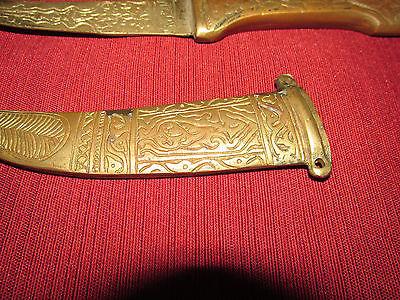 Antique Russian/persian Letter Opener Knife Kinjal, Heavy Brass 9