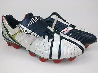 a7c275fe27c ... Umbro Mens Rare X Boot ll - A KTK Leather FG 886194-3W9 Blue White