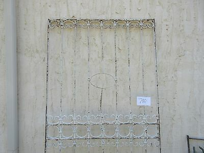 Antique Victorian Iron Gate Window Garden Fence Architectural Salvage #780 2