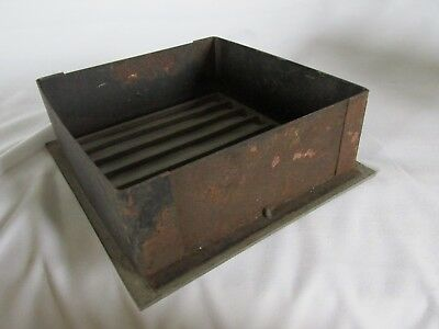 Vintage Metal Square Heat Vent, Salvaged Steampunk 6