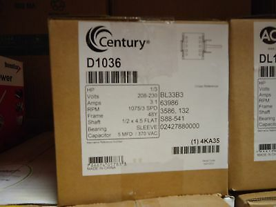 CENTURY (FORMERLY AO Smith) D1036 1/3HP 208-230V Direct Drive Blower on