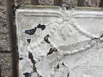 """GORGEOUS antique VICTORIAN tin ceiling pressed white BOW pattern 4 - 24"""" sq pcs 7"""