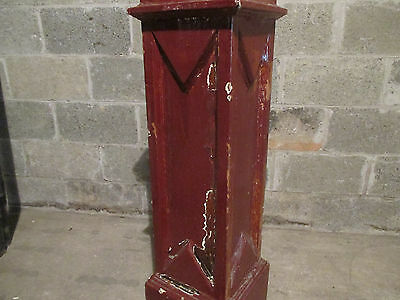 ~ Antique Carved Oak Newel Post ~ 49 Inches Tall ~  Architectural Salvage ~ 4