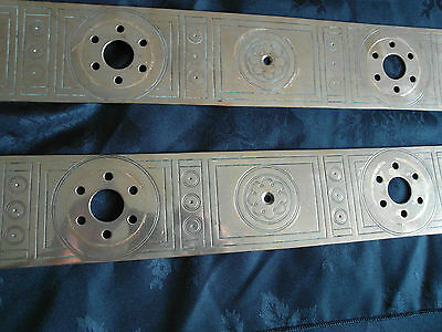 Pr Large  Antique Arts & Crafts Brass Door Finger Plates 4