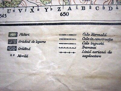 1937 Giurgiu Romania Institutul Geografic Militar Original Vintage Map 10