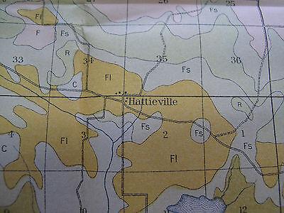 Soil Survey Map Conway County Arkansas Morrillton Hattieville Plumerville 1907 4