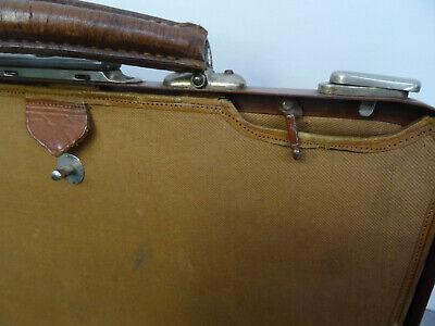 Antike Hebamme Doktor Koffertasche Koffer Arzt Leder Tasche 9